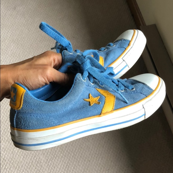 Converse all Star One Star blue & yellow